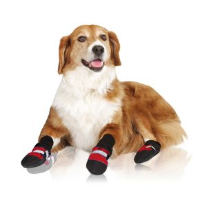 Muttluks Fleece Lined Dog Boots (Red)