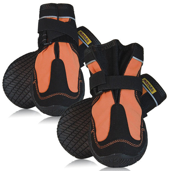 Muttluks Snow Mushers Dog Boots - Orange